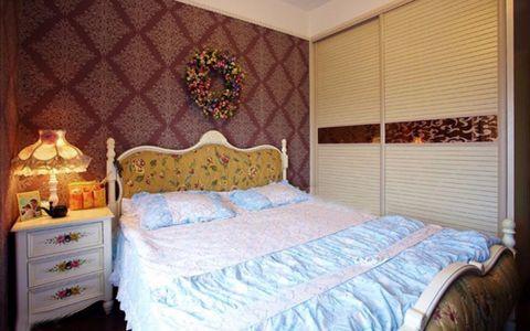 卧室背景墙田园风格装潢设计图片