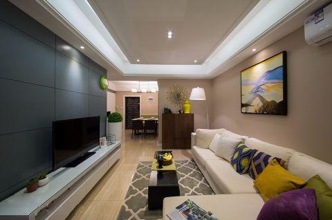 现代简约90平米两室两厅装修效果图