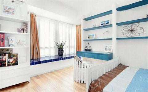 卧室飘窗地中海风格装潢效果图