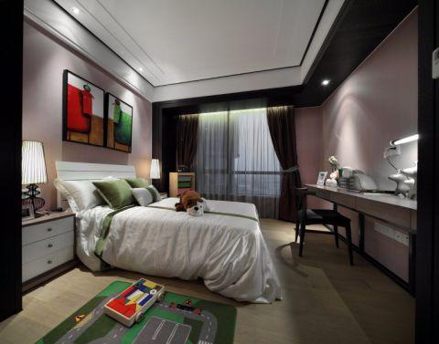 卧室照片墙中式风格装修设计图片