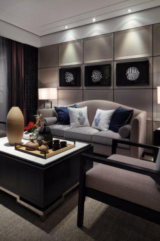 客厅照片墙中式风格效果图