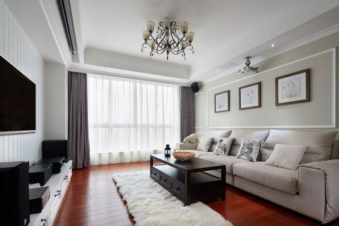 华润国际现代简约三居室装修效果图