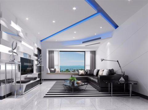 华发世纪城现代简约三居室装修效果图