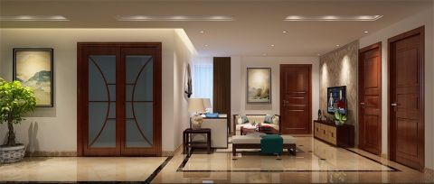 客厅走廊中式风格装饰设计图片