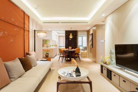 客厅吊顶现代中式风格装潢图片