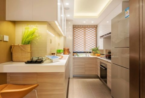 厨房吊顶现代中式风格装潢设计图片
