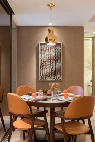 餐厅照片墙现代中式风格装饰设计图片