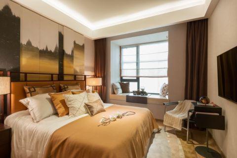 卧室飘窗现代中式风格效果图