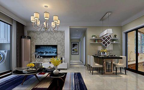 万达华府90平欧式风格二居室装修效果图