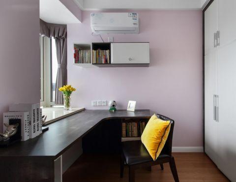 书房背景墙现代简约风格装饰设计图片