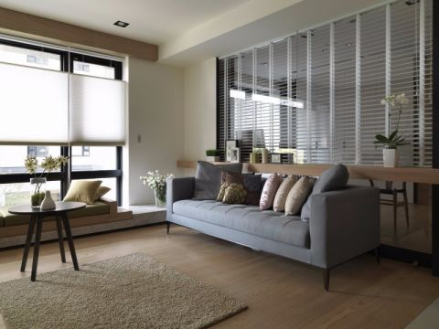 客厅飘窗混搭风格装潢设计图片