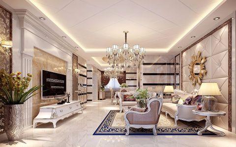 2021欧式100平米图片 2021欧式三居室装修设计图片