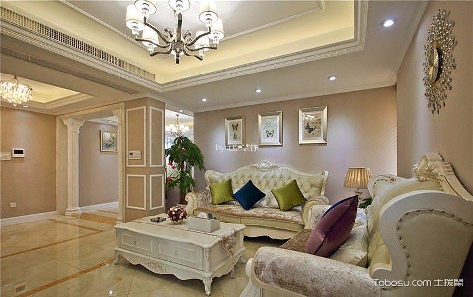 保利玫瑰湾现代欧式风格三居室效果图