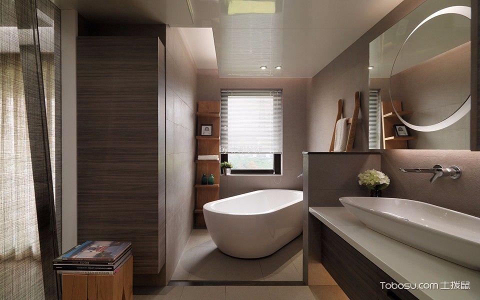 浴室 浴缸_6.57万预算140平米三室两厅装修效果图