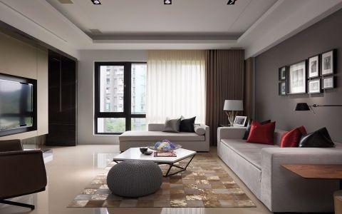 6.57万预算140平米三室两厅装修效果图