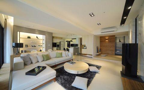 6.84平米140平米三室两厅装修效果图
