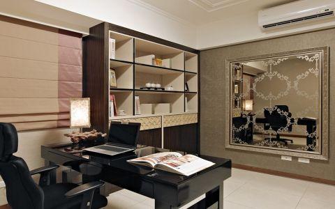 书房博古架现代风格装饰效果图