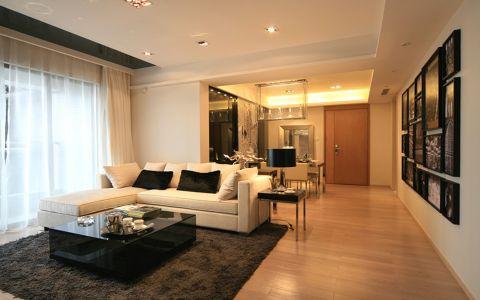 珠海傲景峰90平美式风格二居室装修效果图