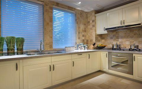 厨房窗帘美式风格效果图