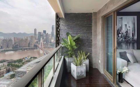 阳台简约风格装饰设计图片