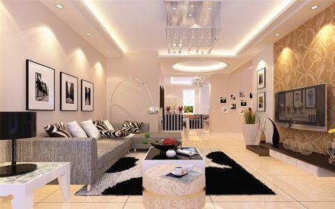 蓝光香境100平现代简约风二居室装修效果图