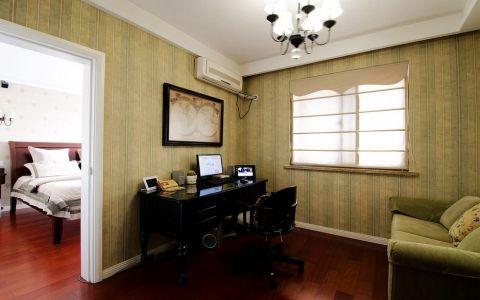 书房书桌现代简约风格装修效果图