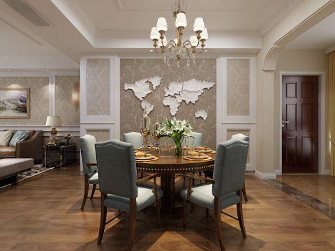厨房餐桌简欧风格装潢图片