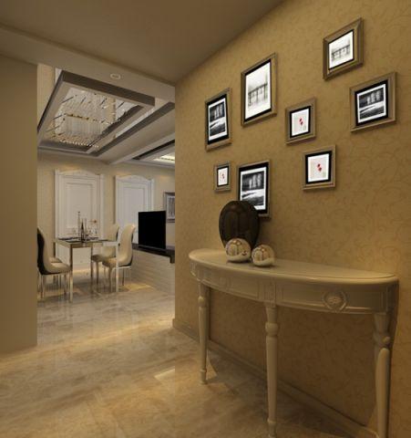 玄关背景墙简欧风格装修设计图片
