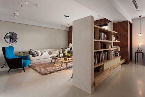 客厅隔断简约风格装修设计图片