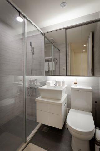 卫生间隔断简约风格装饰图片