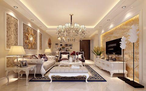 花神美境110平米欧式风格三居室装修效果图