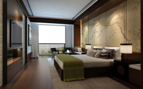 卧室窗台中式风格装潢设计图片
