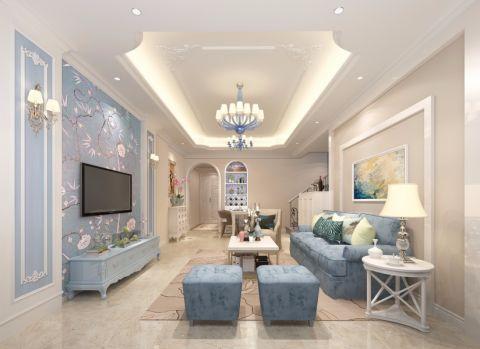 幸福城现代风格四居室装修效果图