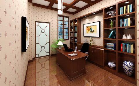 书房博古架欧式风格效果图