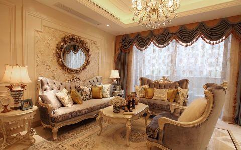 奥莱城120平欧式风格三居室装修效果图