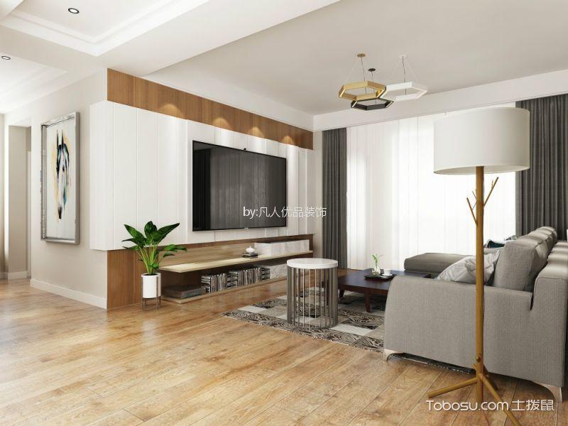 金地酩悦120平米现代简约三居室装修效果图