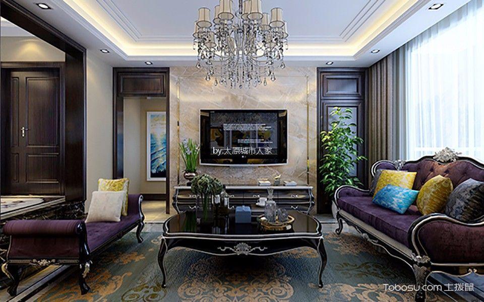 玉泉龙苑欧式古典三室两厅装修效果图