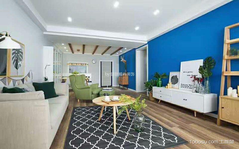 16万预算130平米三室两厅装修效果图