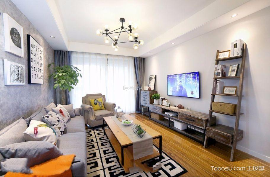 客厅 吊顶_融科城90平北欧风格三居室装修效果图