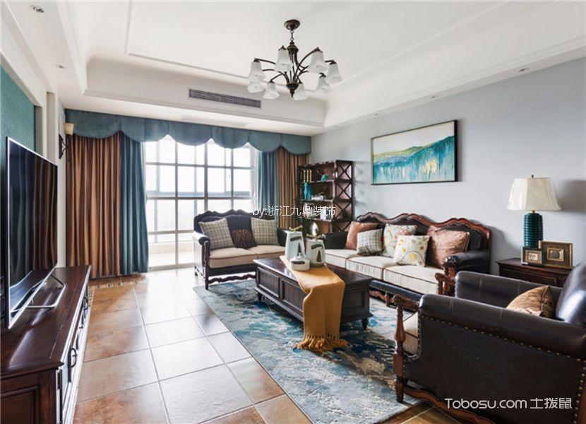 6.7万预算120平米三室两厅装修效果图