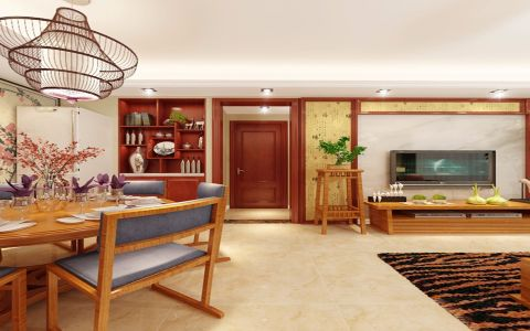 12.5万预算90平米三室两厅装修效果图