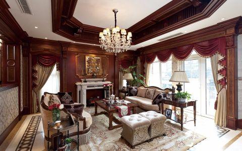 林景雅园100平米美式风格三居室装修效果图