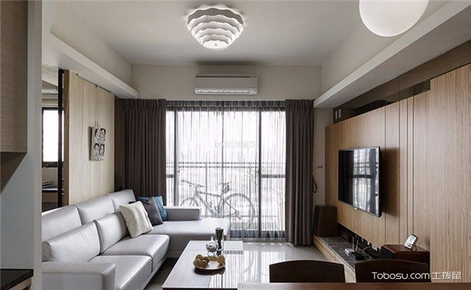 金沙公寓现代风格三居室装修效果图