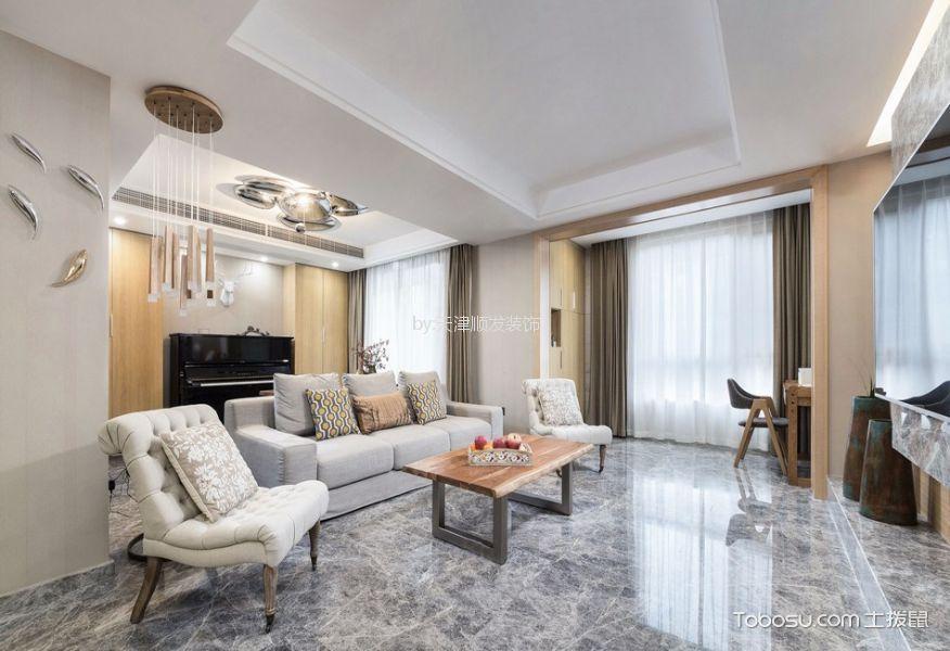 客厅灰色地砖简约风格装修效果图