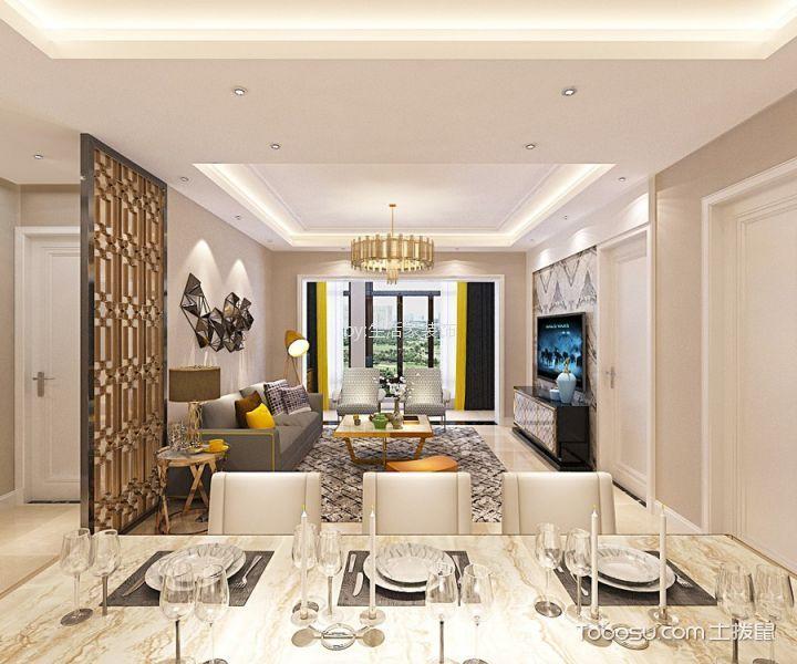蓝海苑140平现代简约风格三居室装修效果图