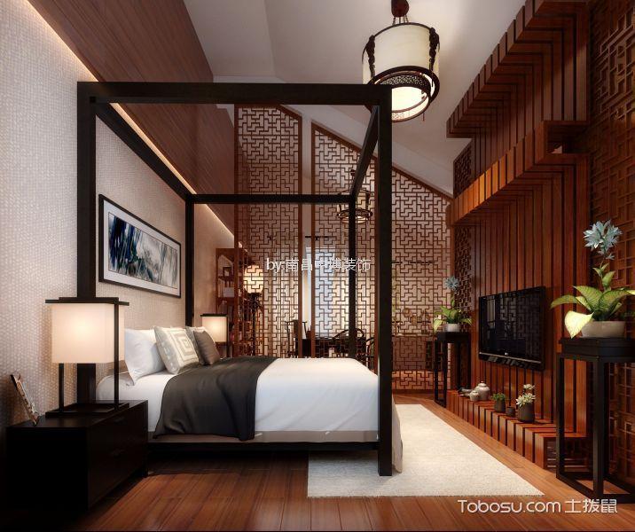卧室 阁楼_龙隐山别墅280平中式风格复式装修效果图