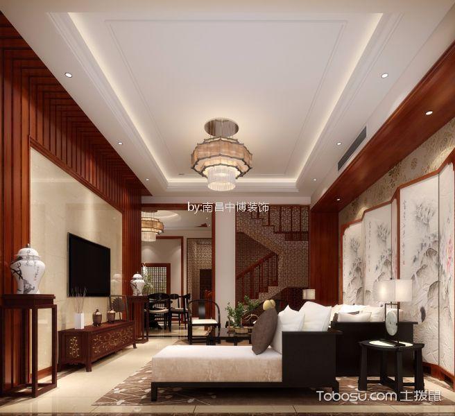 龙隐山别墅280平中式风格复式装修效果图