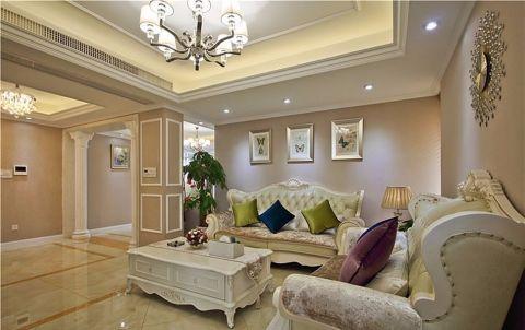 奥克斯现代欧式风格二居室装修效果图