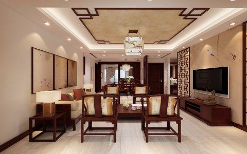 13.5万预算140平米三室两厅装修效果图