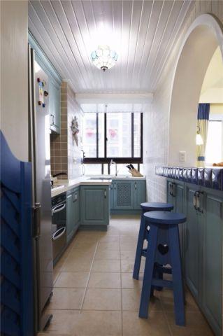 地中海风格厨房吧台装修设计